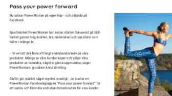 Pass your power forward >> PowerWoman köp– och säljsida på Facebook