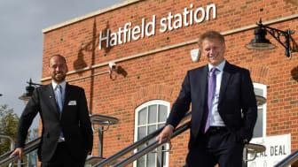 Transport Secretary Grant Shapps opens rail's largest Electic Vehicle charging hub at Hatfield Station