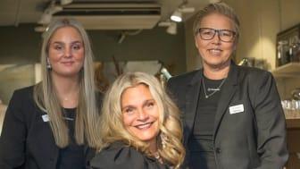 Zara Pellerone, Rosie Pellerone och Viktoria Lindkvist. Foto: VaFintFoto