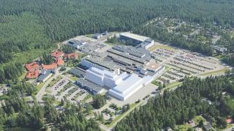 Sairaalarakennuksesta tulee tiloissa tapahtuviin olosuhdemuutoksiin sopeutuva rakennus.