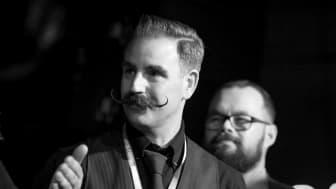 Stefan Jadefjord, huvuddomare i skäggtävlingen på World Beard Day i Stockholm den 2:a september