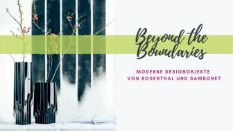 """Die neue Vase Strip """"Black Platinum"""" von Zaha Hadid Design ist in 30 cm, 40 cm und 45 cm erhältlich."""