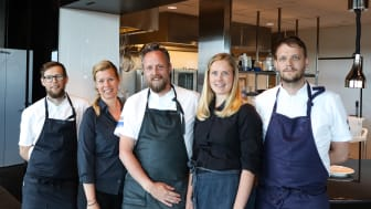 Per Boman, köksmästare Sävargården, Ulrika Hed, konferensansvarig P5, Anders Samuelsson, Britta Agerhäll, kaféchef Kulturbageriet och Fika! och Olof Håsteen, köksmästare Gotthards krog.