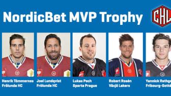 De är nominerade till Most Valuable Player i CHL