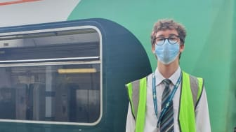 Jae Callow is ready to assist customers at Chichester station
