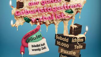 """Sondermotiv: Werbeanzeige zum Darmkrebsmonat März """"Jede Ausrede kann tödlich sein""""."""