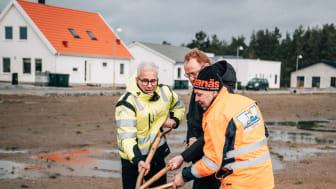 Första spadtaget i Södra Sandby utanför Lund