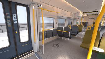I de nya tågen av typen X15p för Roslagsbanan finns flera nyheter och förbättringar.