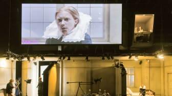 Jenny König i Orlando på Schaubühne. Premiär 5 september. Foto Stephen Cummiskey.