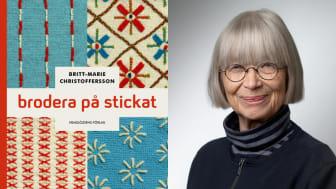 Boksläpp 6 februari av boken Brodera på stickat av Britt-Marie Christoffersson på Hemslöjdens förlag.