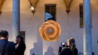 Time in a circle by Kasper Friis Kjeldgaard, brass beeswax ashwood, Mindcraft Milano 2017