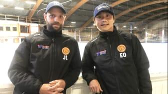 Jesper Liljeblad och Emil Olsson från Skara IK blir tränare på nya ishockeyinriktningen på Katedralskolan