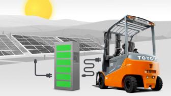 Toyota Material Handling Europe och Eneo Solutions samarbetar i ett strategiskt solprogram