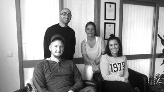 Från vänster till höger; Anders Hilderseth, Tony Hamzo, Viktora Bengtsson & Emma Haglund.