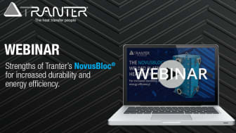 Tranter Webinar: Strengths of Tranter's NovusBloc® for increased durability and energy efficiency.