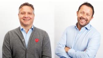 NY SALGSLEDELSE: Terje Dagestad-Larsen og Ove Søgaard blir salgsdirektører i P4. Foto: P4