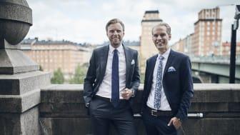 Robert Nilsson (till vänster) och Hampus Åsén har stora planer för Bjurfors verksamhet på Östermalm och Lidingö.