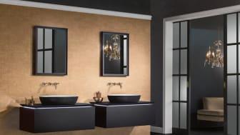 Uskalla kokeilla mustaa kylpyhuoneessa! Musta on ajaton klassikkoväri ja tänä vuonna se on myös yksi selkeimmistä trendiväreistä. Kuvassa Villeroy & Bochin Artis-sarjan pesuallas.