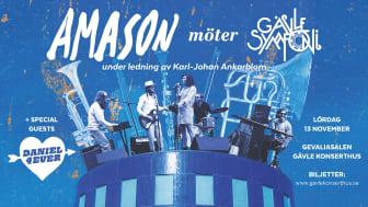 Supergruppen Amason möter Gävle Symfoniorkester under ledning av Karl-Johan Ankarblom