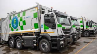 Kommunfullmäktige i Madrid har köpt in 109 tunga Iveco Stralis-fordon som går på komprimerad naturgas (CNG) till sin park av sophämtningsfordon.