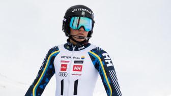 Anna Swenn Larsson, Rättviks SLK, har testat positivt för Covid-19 och får nu stanna hemma i Åre istället för att åka på läger i Italien. Foto: Klas Rockberg/SSF