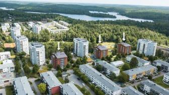 Brf Övre Lövet i Övre Lövgärdet, Angered - 66 nya bostadsrättslägenheter Egnahemsbolaget