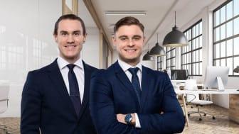 Erik Oom och Markus Dragicevic har rekryterats till Colliers Capital Markets-team.