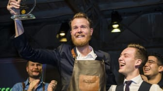 MARCUS FREDRIKSSON OF SWEDEN BEAT 11 CONTESTANTS TO TAKE THE TITLE AT THE GLOBAL FINAL IN MILAN, ITALY