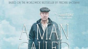 """Del av den internationella affischen för filmen """"En man som heter Ove"""" med Rolf Lassgård i titelrollen."""
