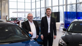 BilMånssons vd Clas Månsson och platschef Robin Österlund.