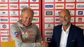 Fr.v. Espen Bjervig, Langrennssjef Norges Skiforbund, Terje Aarbog, Administrerende direktør, DHL Express (Norway) AS