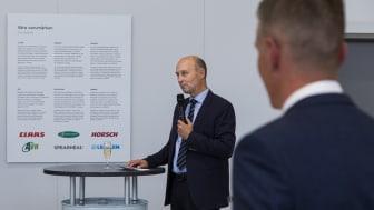 Jens Skifter var med och startade upp Swedish Agro Machinery i Sverige. Numera är han divisionschef för Danish Agros maskindivision.