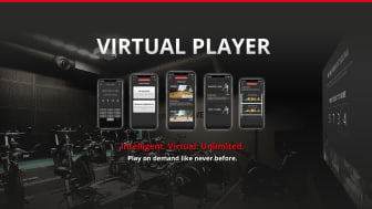 No instructor? No problem. The Virtual Player lets members play workouts on the big screen in between live classes.