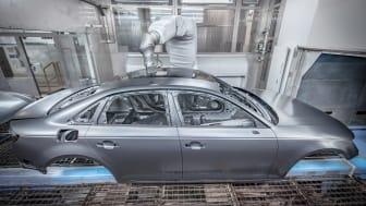 Audi indfører ny, miljøvenlig lakeringsteknologi i serieproduktion