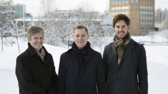 Erik Elmroth (grundare), Robert Winter (CEO) och Johan Tordsson (grundare)
