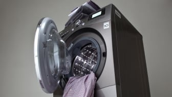 Stilfuldt design i vaskerummet: LG BIG-IN COMBO – SØLVGLINSENDE SKØNHED MED KAPACITET I VERDENSKLASSE