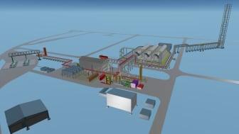 Die Bio-LNG Anlage soll in Köln-Godorf errichtet werden und im Herbst 2022 ihren Betrieb aufnehmen. (Grafik: Wärtsilä)