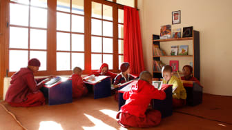 Diskit Monastary is one of the 15 schools which gets furnished with a new library, equipped with reading materials.