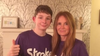 Derby mother and son take on Resolution Run for the Stroke Association
