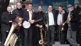 Die ILMTAL JAZZ BAND tritt beim Musikalischen Sparkassen-Frühschoppen in Sömmerda auf.