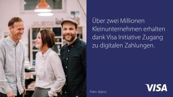 Dank Visa Initiative bereits über zwei Millionen europäische Unternehmen digitalisiert