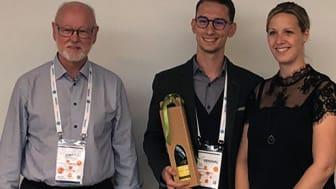 Infermedica modtager prisen for bedste pitch på WHINN Pitchfire Competition 2018