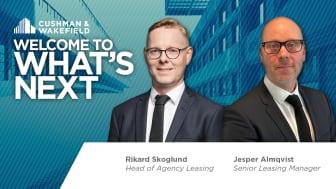Cushman & Wakefield utser Rikard Skoglund till ny Head of Agency Leasing. Teamet förstärks ytterligare med Jesper Almqvist i en roll som Senior Leasing Manager