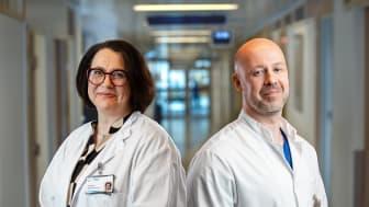 Taysin asiantuntijat Maarit Bärlund (vas.) ja Jarkko Ahvonen pitävät hoitopolun kehittämistä keuhkosyöpäpotilaille tärkeänä