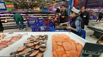 Lakseeksporten økte med 25 millioner måltider forrige uke.