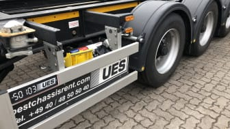 The Hamburg-based leasing specialist UES Chassis uses the BPW CargoTracer to locate its chassis.