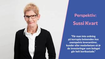 Perspektiv: Sussi Kvart – om ESG och kopplingen till antikorruption