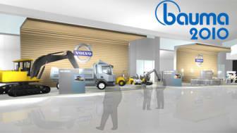 Volvo tar ett helhetsgrepp om maskinägande på Bauma 2010