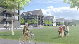 Illustration: E/S-A arkitekter, 252 lgh i Västerås utvecklade av I am Home