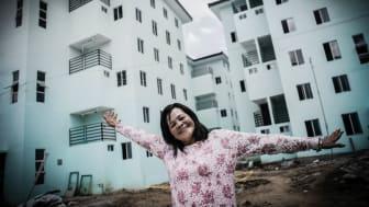 Virgie Lorica är en av de som fått hjälp med en ny bostad genom We Effects arbete på Filippinerna.